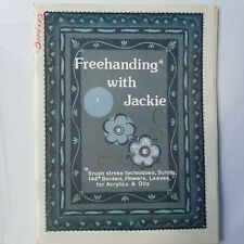 Freehanding w/ Jackie Brush Stroke Techniques Scroll Acrylic Oils painting book