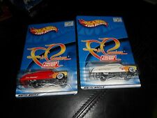 2 LOT RED & WHITE FIRE PASSION FIREBIRD RACEWAY HOT WHEELS REALRIDERS MINT