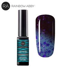 RAINBOW ABBY UV LED Gel Nail 8ml Nagel Nagellack Farbwechsel Thermo Gellack Blau