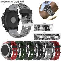 1* Fantastic Replacement Silicagel Soft Band Strap For Garmin Fenix 5X GPS Watch