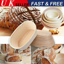 Round/Oval Bread Proofing Proving Basket Rattan Banneton Brotform Dough Tool UK