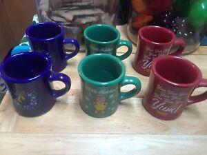 Set of 6 Waffle House Christmas Coffee Mugs
