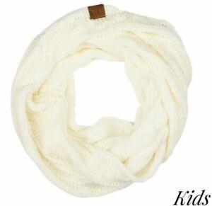 Kids Ivory CC beanie infinity scarf