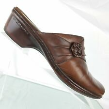 """Earth Origins Womens Shoes Sz 8 M """"Dream"""" Brown Genuine Leather Mules Casual"""