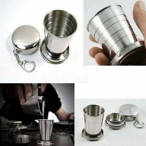 Portable Folding Stainless Steel Cup Telescopic Collapsible Travel Camping Mug