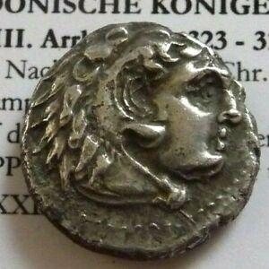 PHILIP IIII, AR Drachm 323-317 BC. Pamphylia, Side Herakles Zeus Pomegranate