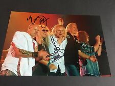 Bernie Shaw & Mick Box Uriah Heep SIGNED PHOTO AUTOGRAFO 20x30