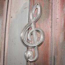 Musiknote als Wanddekoration, Notenschlüssel, gecrushed, Wanddeko, Aluminium