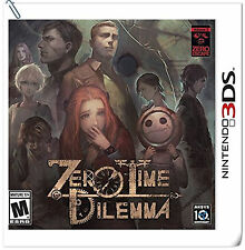 3DS Zero Escape: Zero Time Dilemma Nintendo Aksys Puzzle Adventure Games