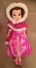 DISNEYSTORE AUTHENTIC - BEAUTY AND THE BEAST - BELLE PLUSH DOLL - PINK CAPE BNWT