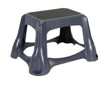 RUBBERMAID 4B38-00 LARGE STEP STOOL NON SKID DARK GRAY NEW