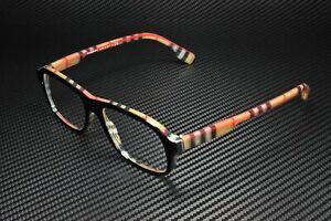 BURBERRY BE2299 3806 Top Black On Vintage Check Demo Lens 54 mm Mens Eyeglasses