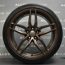 """GENUINE AUDI R8 V8/V10 19"""" INCH COPPER ALLOY WHEELS AND CONTINENTAL TYRES X4"""
