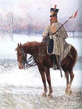 Peinture armée polonaise Chelminski 8ème picadors Régiment Vistule imprimé Poster lf681