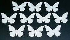 10 Butterfly Card Toppers. 200gm card. Plain white. Paper craft bundle