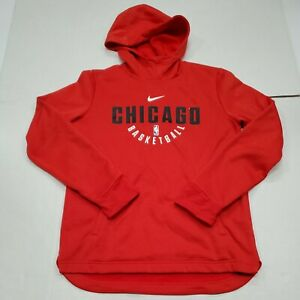 Chicago Bulls Nike Dri-Fit Red Sweatshirt Hoodie Youth XL Excellent Condition