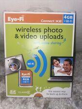 BRAND NEW ~ Eye-Fi Connect X2 4GB + Wi-Fi SD Card WiFi Wireless Uploads Free SnH