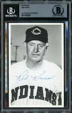 Red Kress Autographed Signed 3.5x5.5 Postcard Indians Died 1962 Beckett 11628378