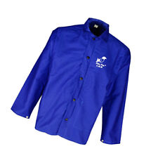 Blue Protective Welding Coat Welding Jacket Welding Apparel Weld Suit XL