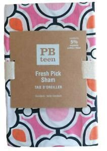 POTTERY BARN Fresh Pick Pink Orange Taie D'Oreiller Standard Sham NEW Tags
