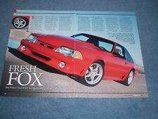 "1989 Mustang GT Hatch Resto-Mod Article ""Fresh Fox"" 5.0"