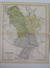 Derbyshire, 1861 Antique Map, County, Hughes, Atlas