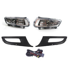 Kit For VW POLO 11-13 Front Grille + Fog Light With Wire 12 High Quality