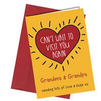 #1305 Grandma Grandpa Can't Wait To Visit You Again Lockdown Greetings Card