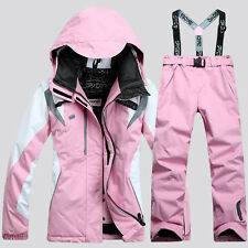 Winter Women Ski Suit Jacket+Pants Warm Set Thermal Snowboard Snowsuit Set