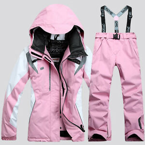 Women Ski Suit Jacket+Pants Warm Set Thermal Snowboard Snowsuit Set