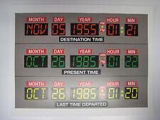 """Back to the Future  - 8.5"""" x 11"""" - Delorean Dashboard Poster Print - B2G1F"""