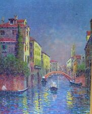 "Vintage Perfect Picture Puzzle ""Colorful Highways"" Venice Canal  Scene Complete"