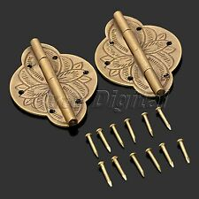 One Pair Vintage Brass Decorative Hinges 43mm*31mm for Jewelry Wooden Gift Box