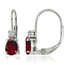Drop/Dangle White Ruby Fine Earrings