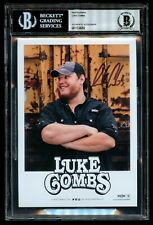Luke Combs signed autograph auto 5x7 Photo Beckett Authenticated and Slabbed