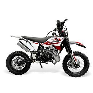 50cc FTN50 Kids Dirt Bike – Red (Black Plastics)