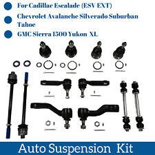12pcs Suspension Parts Ball Joints Pitman & Idler Arm Sway Bar Links Tie Rod End