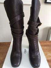 CHLOE, candy candy Brown Boot avec sangles