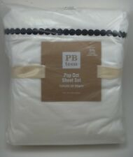 Pottery Barn Teen Pop Dot Sheet Set Black Full #156