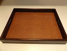 Ostrich Hide Custom Tray by Exposures 2006 Made in Italy