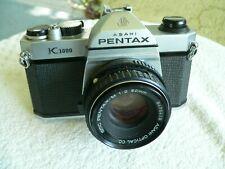 Pentax Asahi K1000 35mm SLR Film Camera W/SMC M 50mm 1:2 50mm Lens