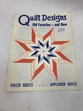 Vintage Quilt Designs Old Favorites & New Aunt Martha's Pieced Applique Stars