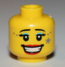 Lego Yellow Head Light Blue Mascara Gray Star Red Lips