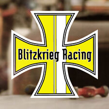 Blitzkrieg Racing Iron Cross Sticker Aufkleber Cox  Käfer Bug gelb 120mm ✔