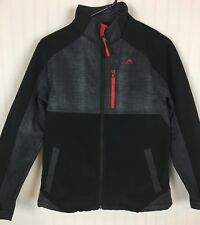 Vertical 9 Boys Performance Full Zip Jacket Black & Gray Sz XL (16-18)