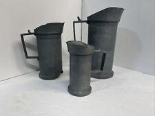 antique pewter measure mug