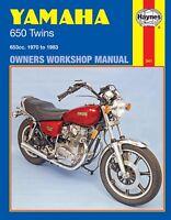1970-1983 Yamaha XS TX 650 TX650 XS650 Twin HAYNES REPAIR MANUAL 341