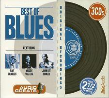 BEST OF BLUES 3 CD BOX SET - RAY CHARLES * MUDDY WATERS & JOHN LEE HOOKER