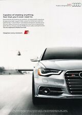 2012 2013 Audi S6 - version2 - Original Advertisement Print Art Car Ad J888