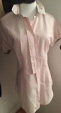 NWT Rivamonti Brunello Cucinelli Striped Pink White 100% Cotton Shirt Sz M EU 42